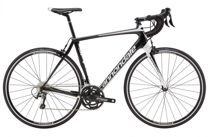 2016 Cannondale Synapse Carbon Tiagra 6 Mens Jet Black w/ Magnesium White, Nearly Black, Matte