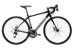 2016 Cannondale Synapse Disc 105 5 Womens Jet Black w/ Magnesium White, Acid Strawberry, Charcoal Grey, Gloss
