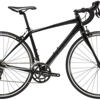 2016 Cannondale Synapse Sora 7 Womens Jet Black w/ Sea, Super Sparkle Grey, Gloss