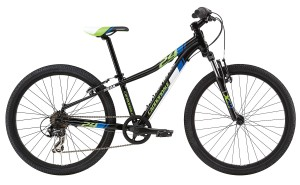 2016 Cannondale Trail 24 Boys Jet Black w/ Berzerker Green, Nu Team Blue, Magnesium White, Gloss