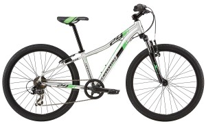 2016 Cannondale Trail 24 Boys Brushed Aluminum w/ Jet Black, Berzerker Green, Gloss