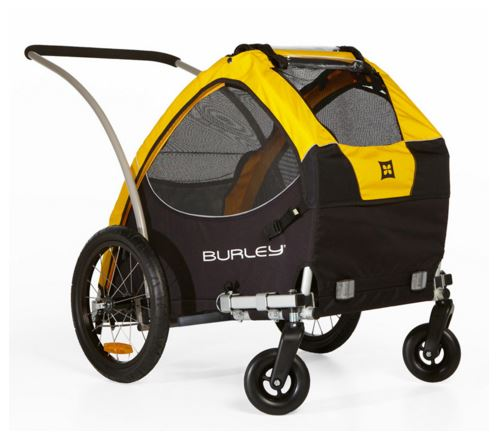 Burley Tail Wagon Pet Trailer Yellow