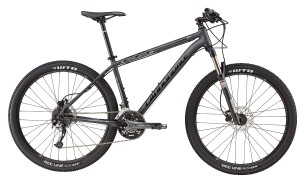 2016 Trail 4 Matte Nearly Black w/ Gloss Charcoal Grey, Jet Black Mens Mountain Bike