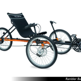 TerraTrike Rambler Recumbent Trike Orange