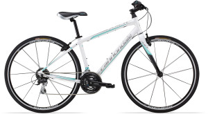 2015 Cannondale Quick 4 Womens Magnesium White, w/ Fine Silver, Linen Turquiose and Exposed Carbon Accents, Gloss