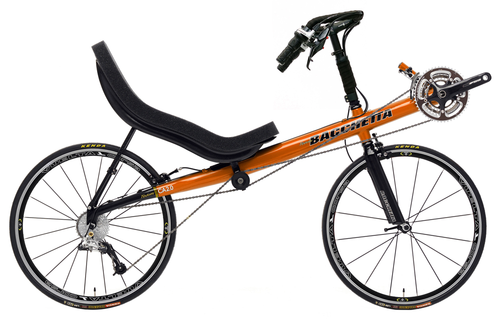 Bacchetta Carbon Aero 650c Pearl Orange Two Wheeled Recumbent