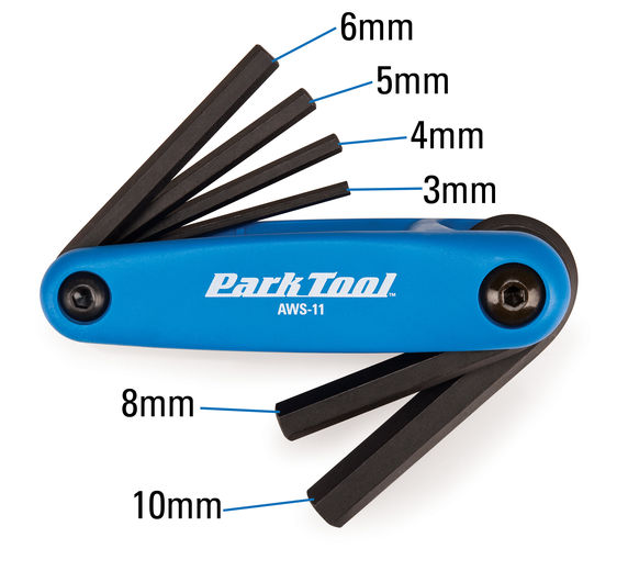 Park Tool AWS-11 Fold-Up Hex Wrench Set