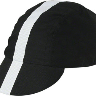 Pace Sportswear Classic Cycling Cap Black w/ White Tape