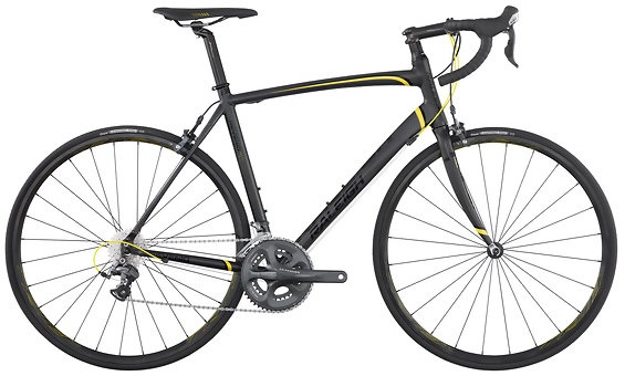 2011 Raleigh Revenio 4.0 Ultegra Matte Black, Yellow