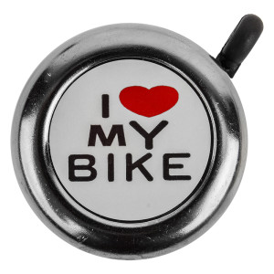 "Sunlite ""I Love My Bike"" Bell Chrome"