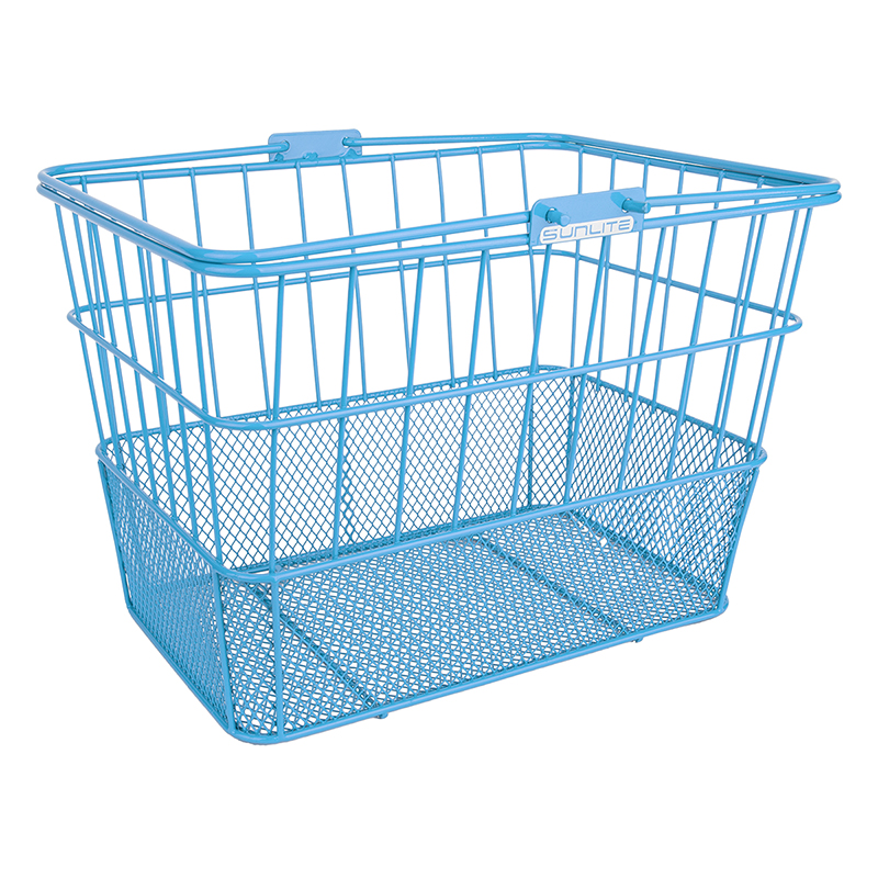Sunlite Standard Mesh-Bottom Lift-Off Basket Light Blue