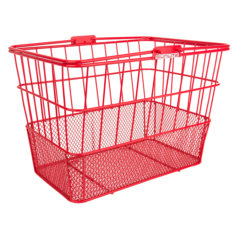 Sunlite Standard Mesh-Bottom Lift-Off Basket Red