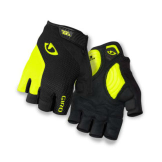 Giro STRADE DURE SUPERGEL Men's Road Glove Black/Highlight Yellow