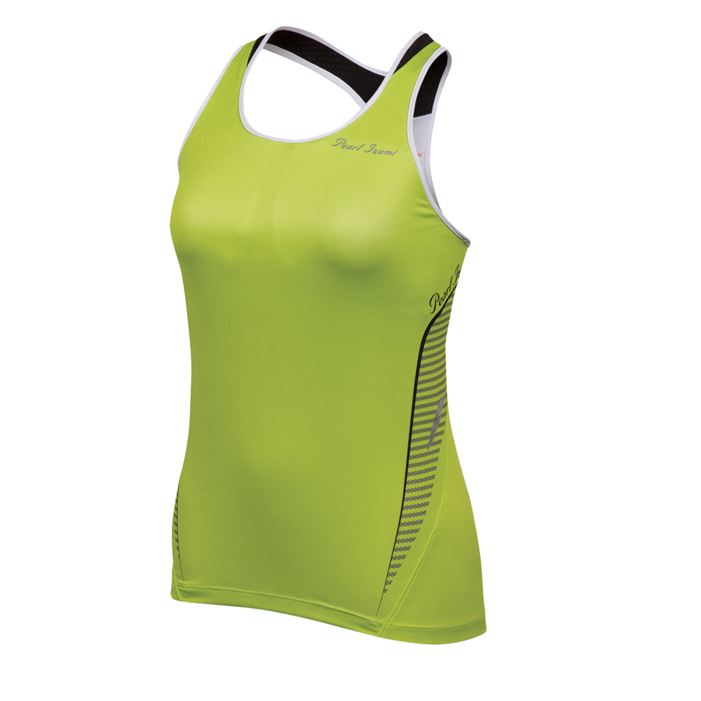 Pearl iZumi Fly In–R–Cool® Sport Tank Women's White/Lime