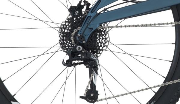2015 Raleigh Kodiak 2 Blue Men's Full Suspension Mountain Bike with SRAM X7 rear derailleur