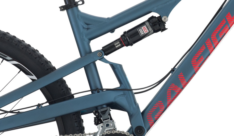 2015 Raleigh Kodiak 2 Blue Men's Full Suspension Mountain Bike Rear Suspension Rock Shox