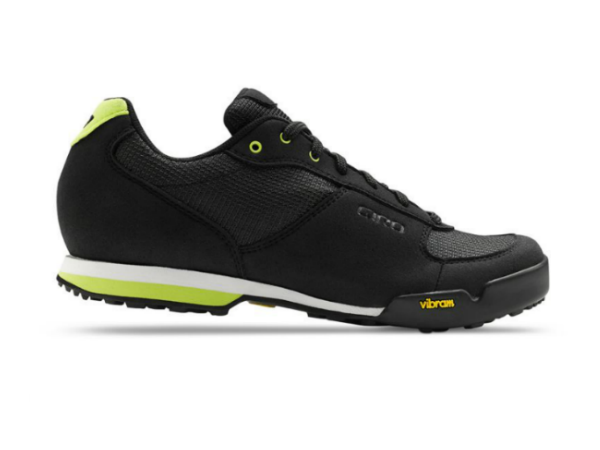 2016 Giro Petra VR Black/ Wild Lime SPD Compatible Spinning Shoe With Recessed Cleat Position