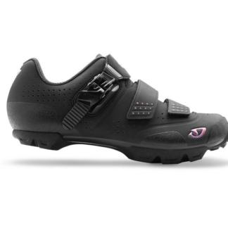 2016 Giro Manta R Black/Galaxy Women's Spinning Compatible SPD Mountain Shoe w/ click system