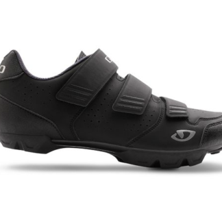 2016 Giro Carbide R Black/Charcoal SPD Spinning Compatible Mountain Shoe with a recessed cleat