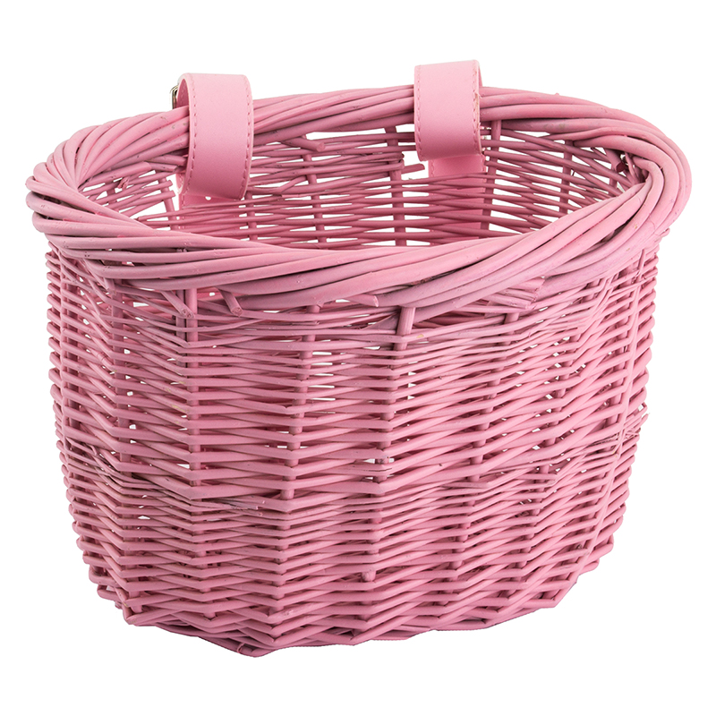Sunlite Willow Mini Strap-On Pink Girl's Basket