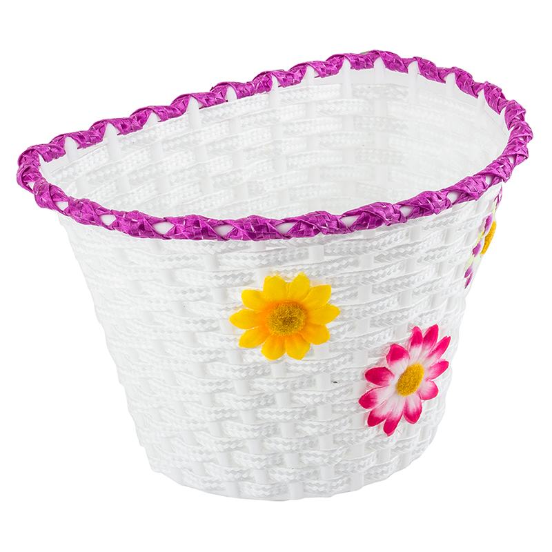 Sunlite Classic Flower White Girl's Basket Large