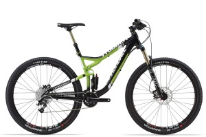 2015 Cannondale Trigger 29 3 Jet Black w/ Green, White, Gloss Full Suspension Men's Bike
