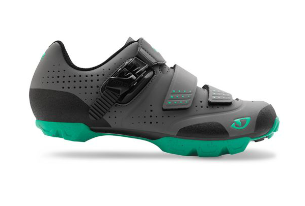 2016 Giro Manta R Charcoal/ Turquoise Womens SPD Spinning Compatible Mountain Shoe