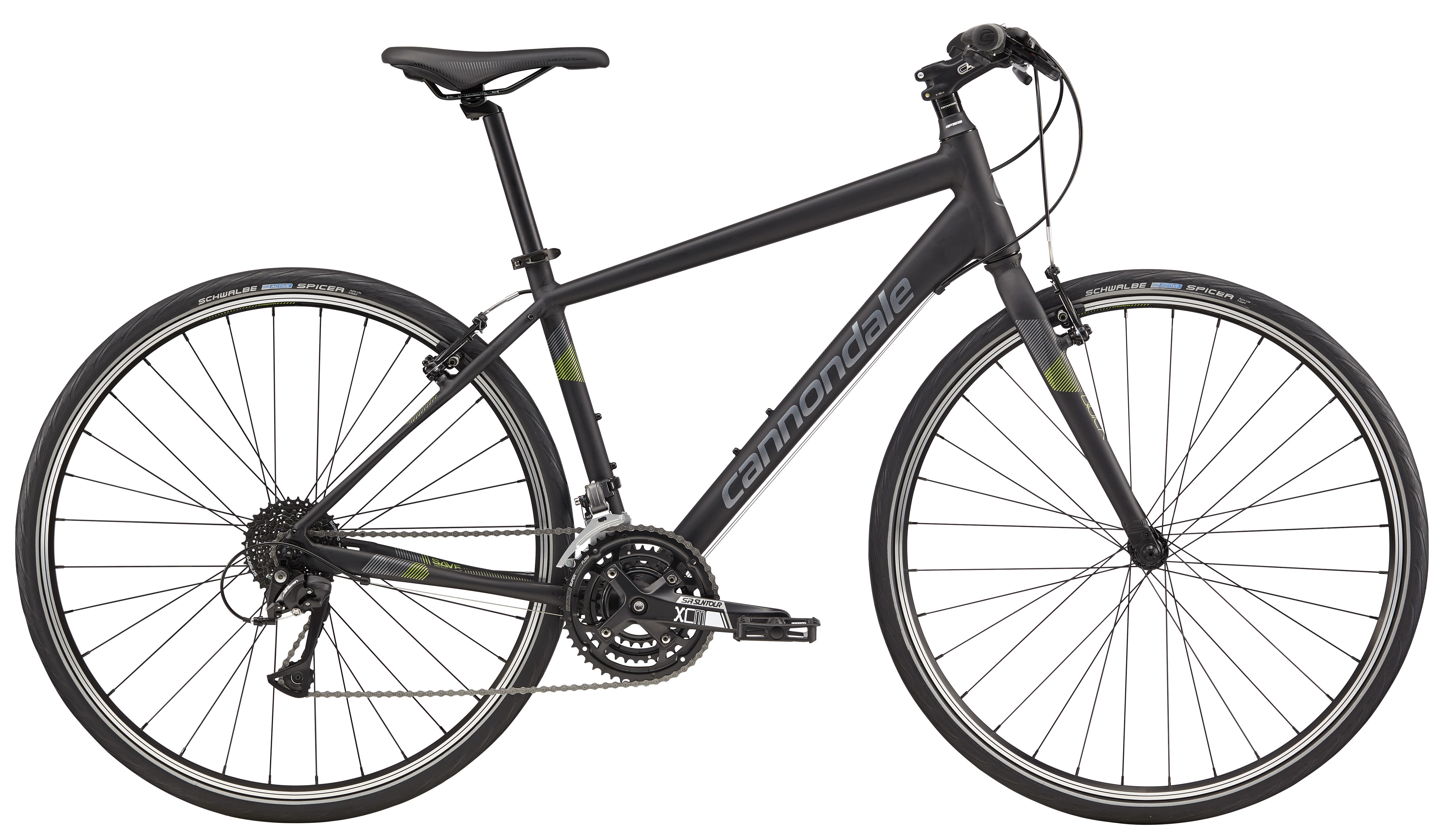 92b837c7b25 2018 Cannondale Quick 6 Jet Black w/ Charcoal, Green – Bicycle One