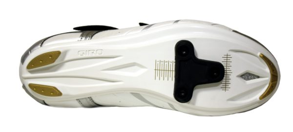 2013 Giro Sante White/Black/Gold SPD SL Compatible Women's Road Shoe