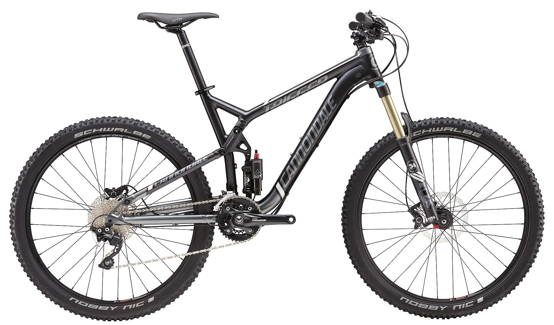 2016 Cannondale Trigger 4 Black Men's Full Suspension Mountain Bike
