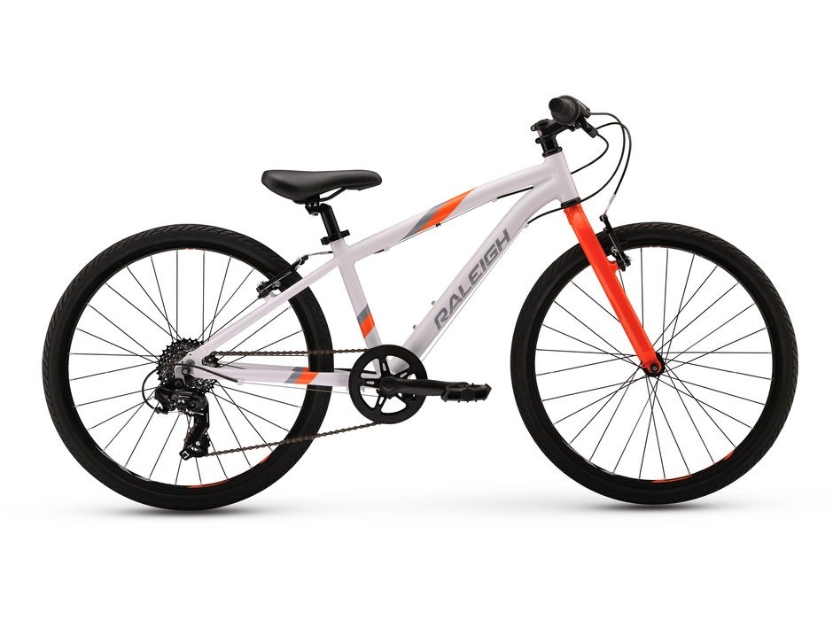 """2017 Raleigh Cadent 24 White Boy's 24"""" Hybrid Bicycle"""