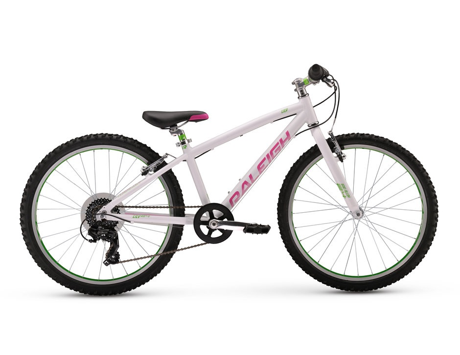 "2017 Raleigh Lily 24 White Girl's 24"" Mountain Bike"