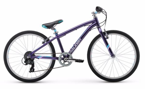 "2017 Raleigh Alysa 24 Purple Girl's 24"" Bicycle"