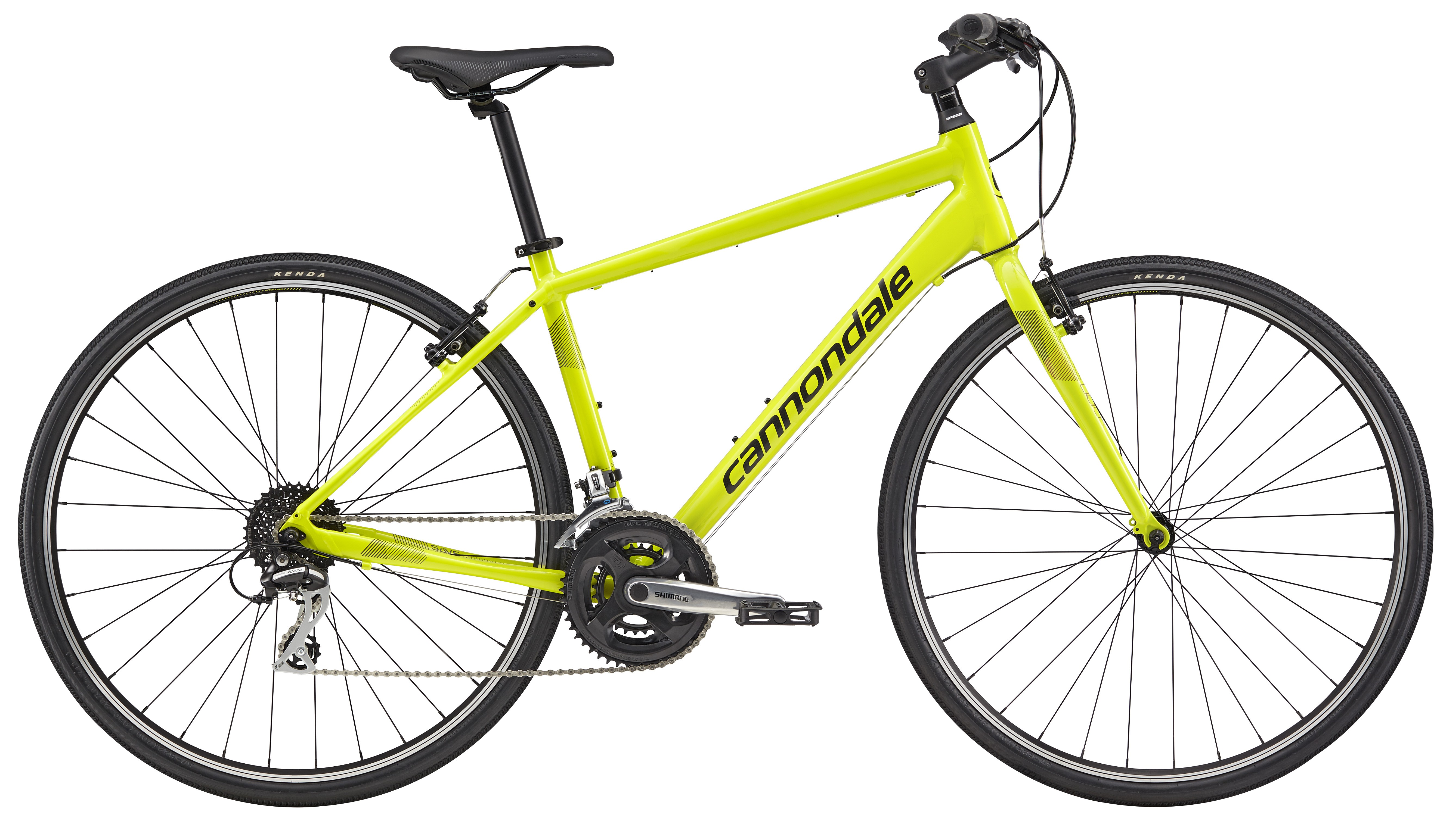 2017 Cannondale Quick 7 Neon Spring/Black Fitness Hybrid