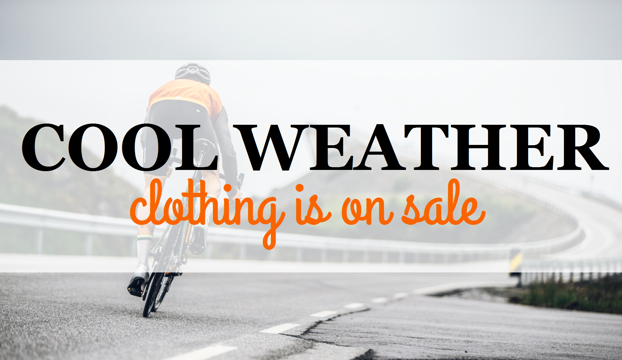 cool weather clothing is on sale