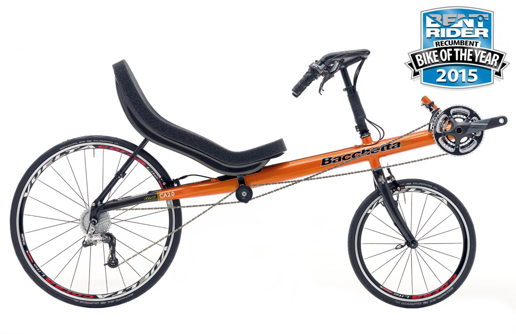 Bacchetta Carbon Basso Short Wheel Base Two Wheeled Recumbent Bicycle