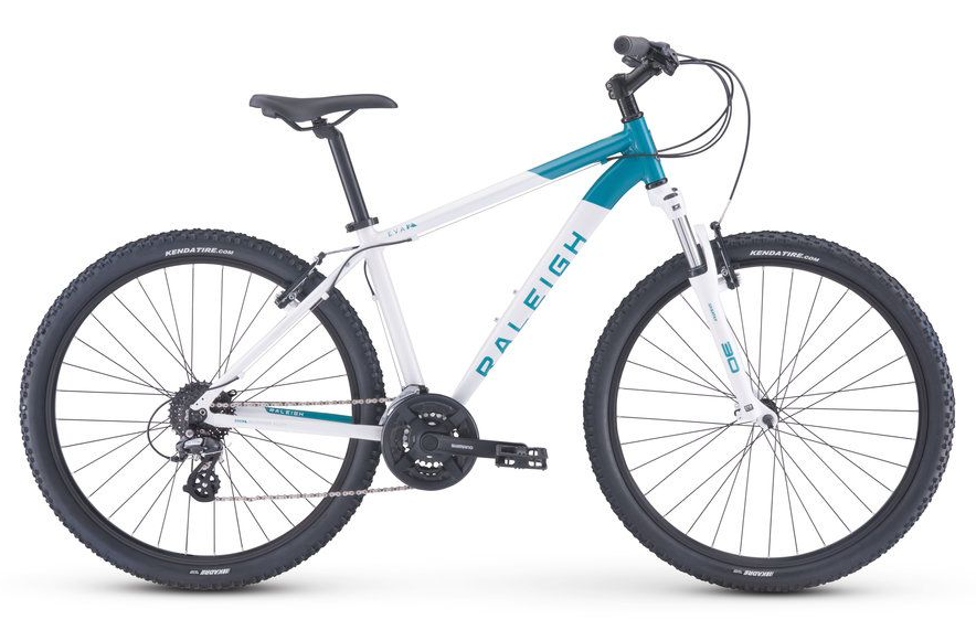 2018 Raleigh Eva 2 White/Teal Womens Hardtail Mountain Bike