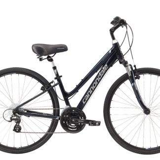 2017 Cannondale Adventure 2 Womens Midnight Blue/ Silver Comfort Hybrid