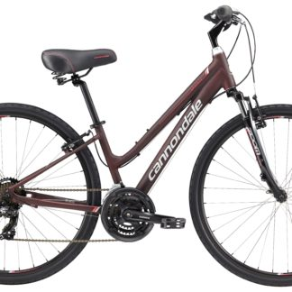 2017 Cannondale Adventure 3 Womens Brown/Magenta Comfort Hybrid Bicycle