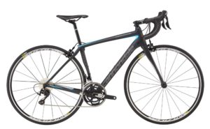 2017 Cannondale Synapse Carbon Women's 105 Nearly Black / Blue Road Bike