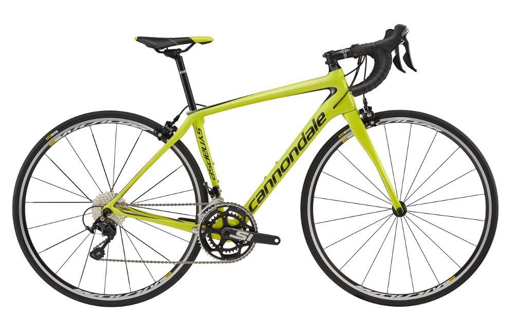 2017 Cannondale Synapse Carbon Women's 105 Neon Spring / Black Road Bike