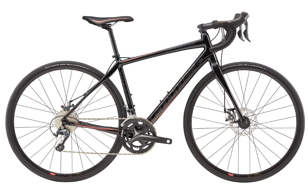 2017 Cannondale Synapse 6 Tiagra Black/Coral Women's Endurance Road Bike