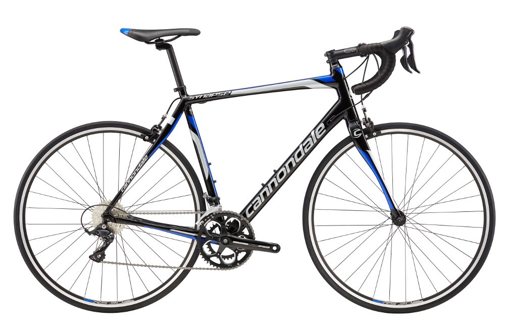 2017 Cannondale Synapse 7 Sora Black/Blue Men's Endurance Road Bike