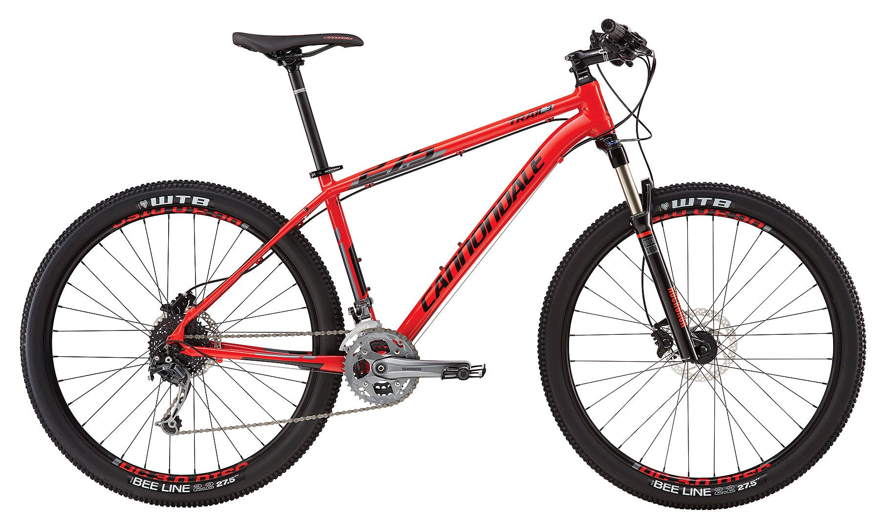 2016 Cannondale Trail 3 Acid Red/ Jet Black Men's MTB
