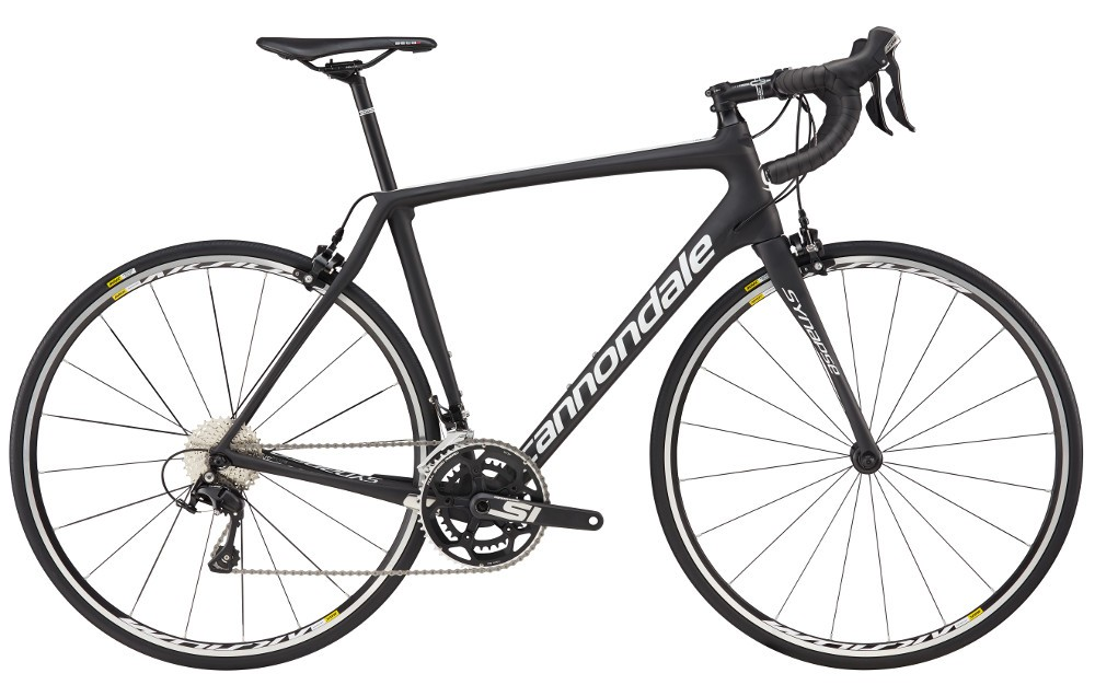 2017 Cannondale Synapse Carbon 105 5 Mens Matte Black/White Road Bike