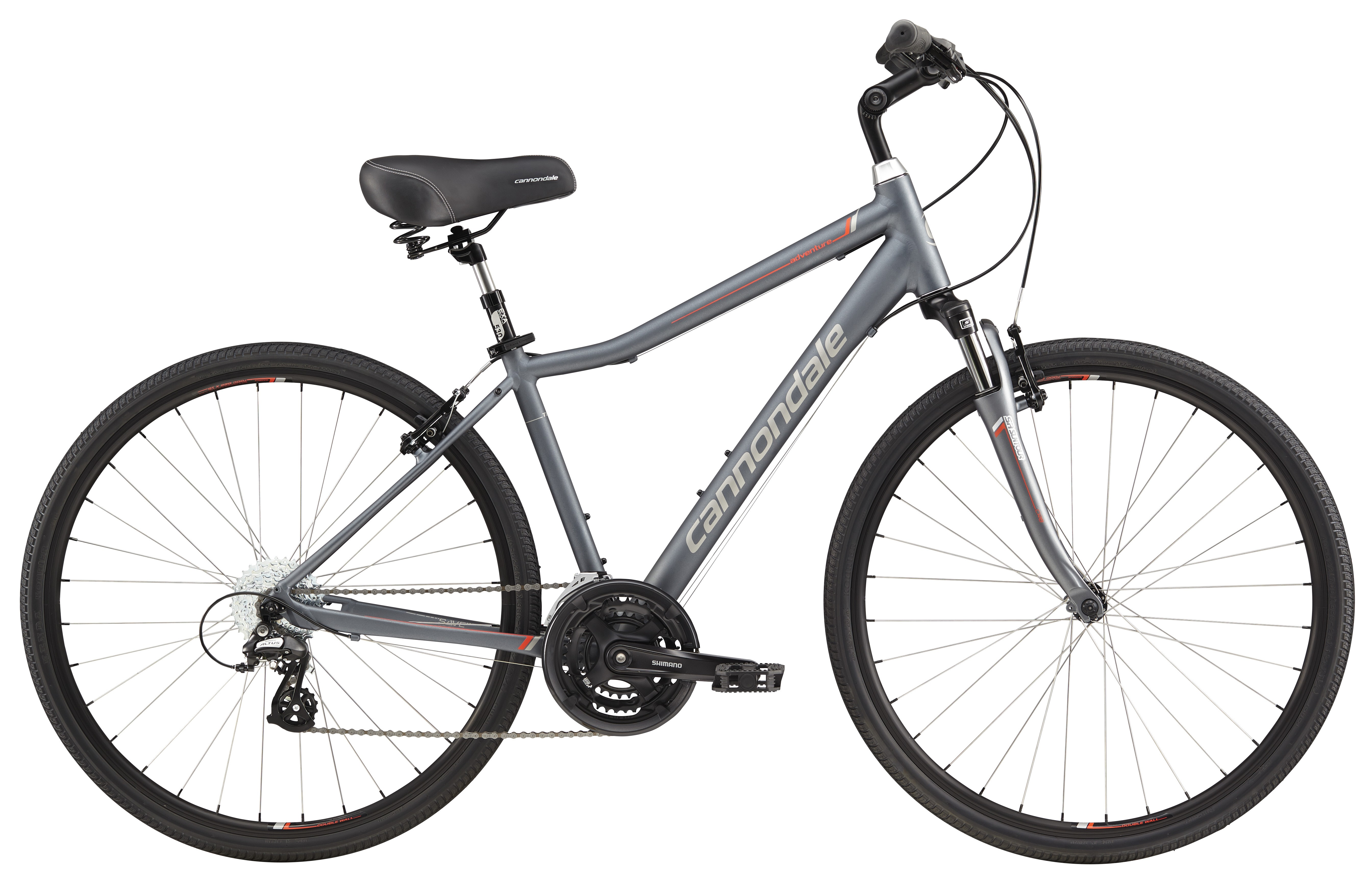 2017 Cannondale Adventure 2 Mens Gray/Silver Comfort Hybrid