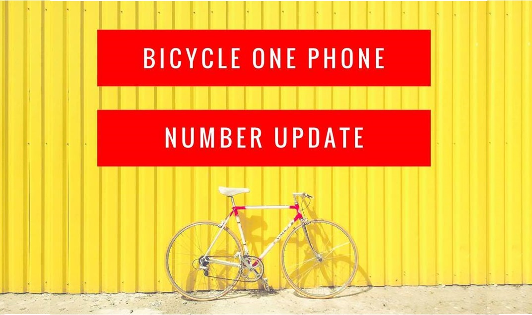 BICYCLE ONE PHONE NUMBER UPDATE