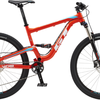 2018 GT Verb Elite Red/Blue Men's Full Suspension Mountain Bike
