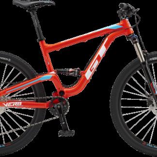 2018 GT Verb Elite Red/Blue Men's Full Suspension Mountain Bike