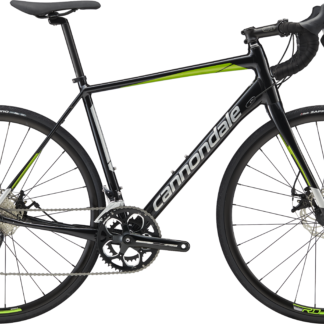 2018 Cannondale Synapse Disc Sora Black/Green Men's Endurance Road Bike